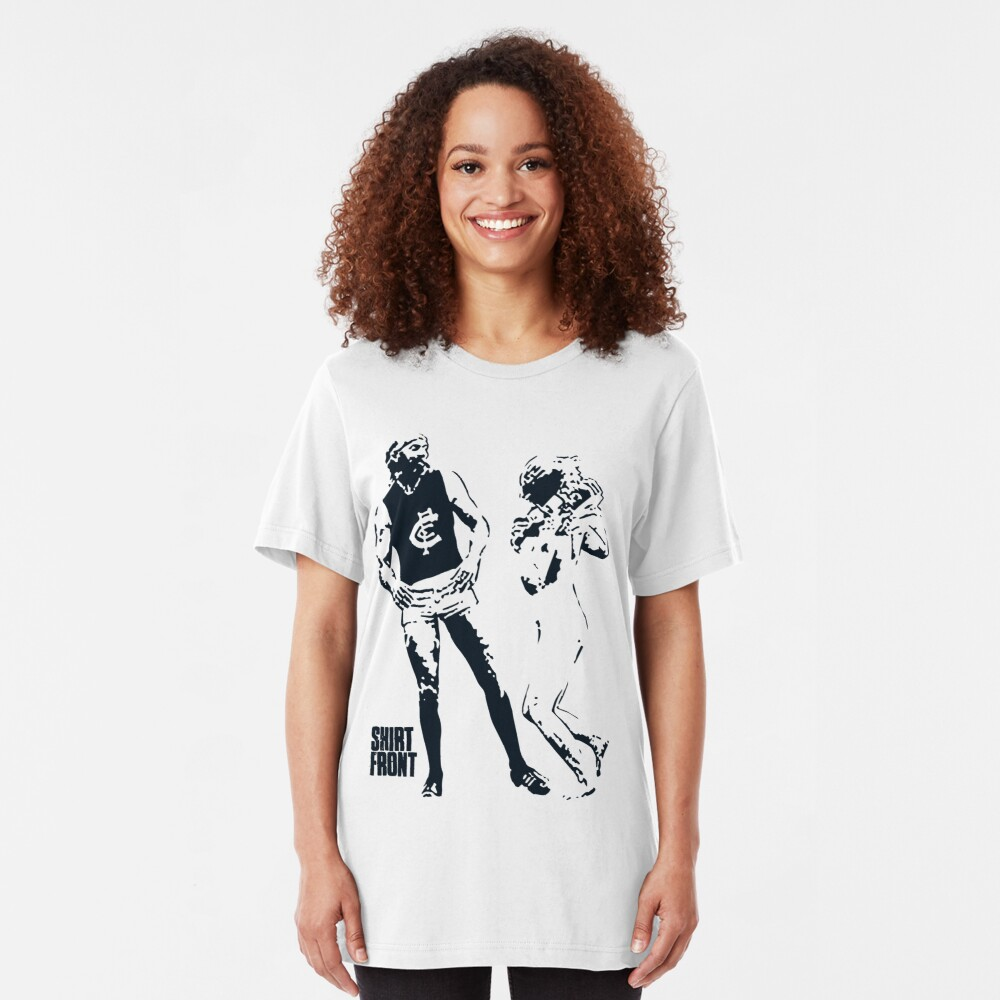 Beauty & The Bruce: White Slim Fit T-Shirt