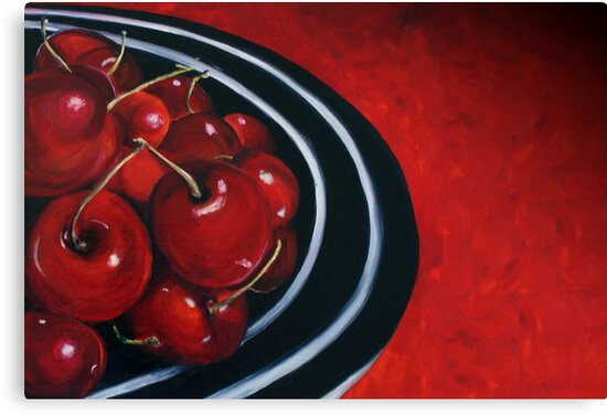 Cherries on Your Plate by Sarah  Mac Illustration