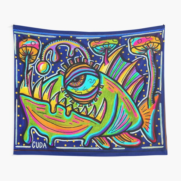 Trippy Angler Fish Tapestry