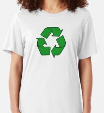 Recycle Sign Gifts & Products Slim Fit T-Shirt