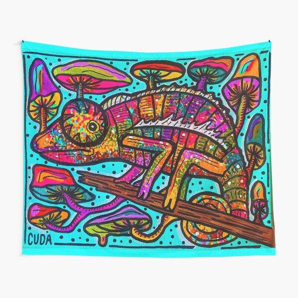 Trippy Chameleon Tapestry