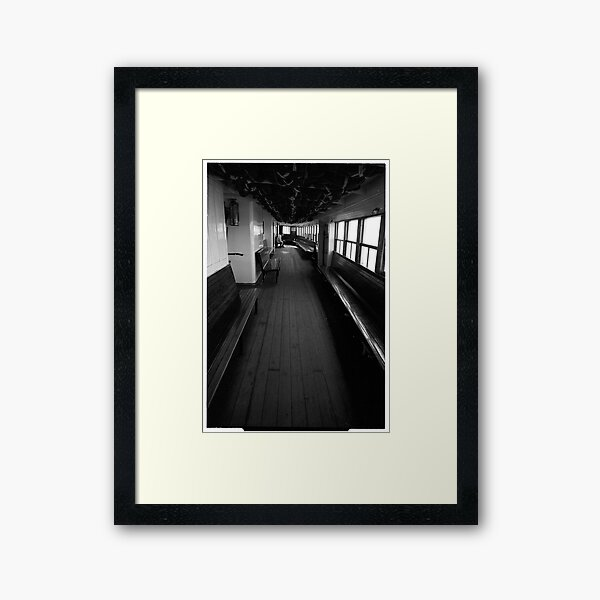The Ongiara - interior decks 1969 Framed Art Print