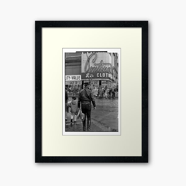 Leathers on Young Street 1969 Framed Art Print
