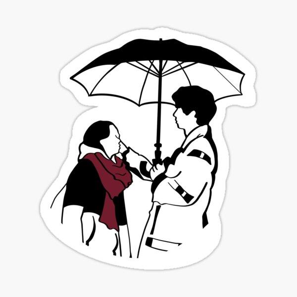 Rainy Goblin Silhouettes  Sticker