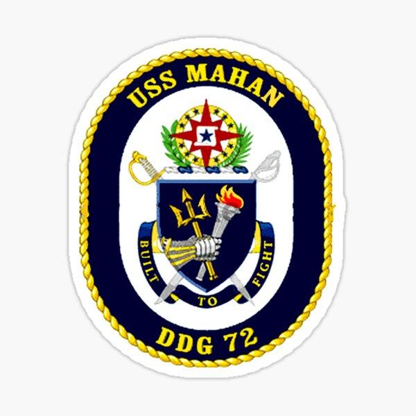 DDG-72 USS Mahan Crest Sticker