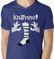 Knitting!  Men's V-Neck T-Shirt