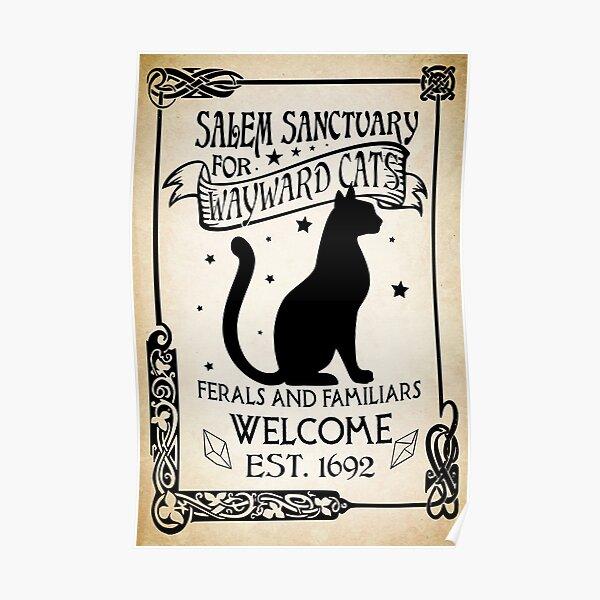 Black Cat Salem Poster