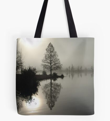 Cypress in the Fog  Tote Bag
