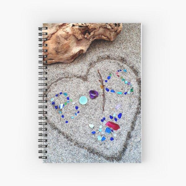 Driftwood Beach Glass and Book Lovers Spiral Notebook