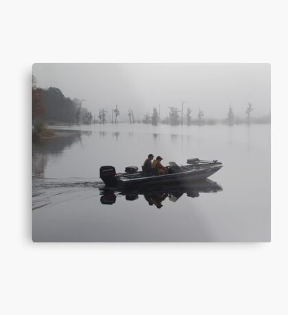 Off to the Bass Bed Metal Print