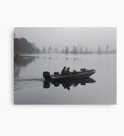 Off to the Bass Bed Canvas Print