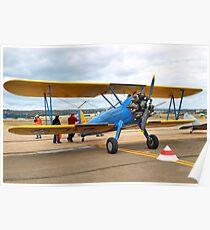 Boeing Steerman Kaydet Training Aircraft Poster