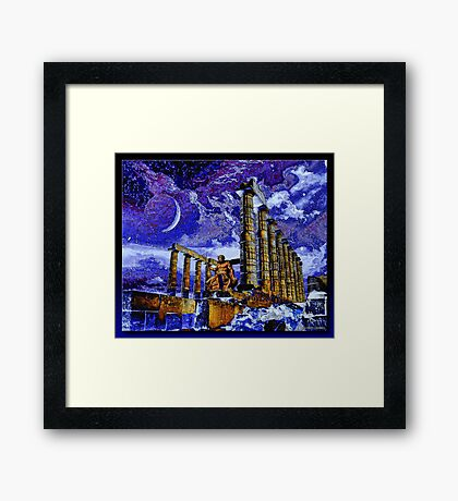 The Temple of Poseidon Framed Print