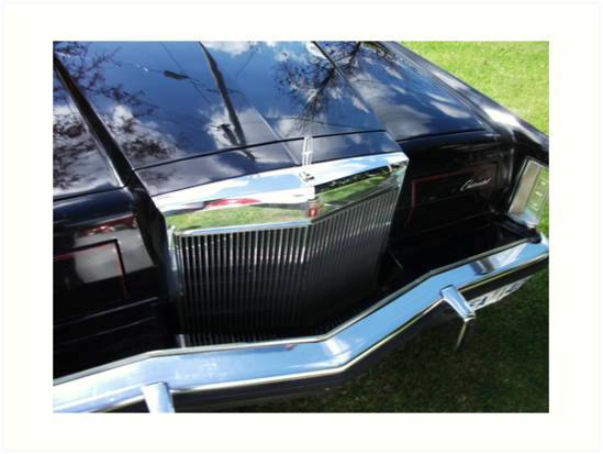 '1978 Lincoln Continental Mark V Grill' Art Print by MitchConway101