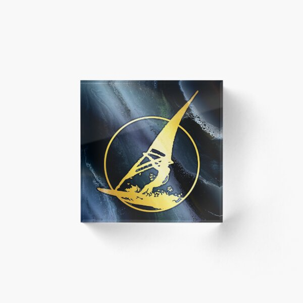 Windsurfing: wind surfer on the waves Acrylic Block