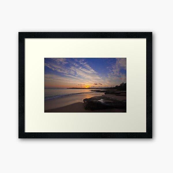 Jibbon Beach Sunrise 2011 Framed Art Print