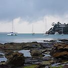 Gunyah beach -rainy day by National Park Photography