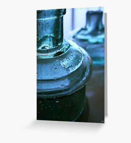 Two Blue Bottles Greeting Card