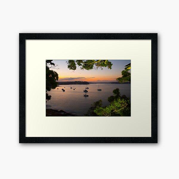 Gunyah beach -at night Framed Art Print