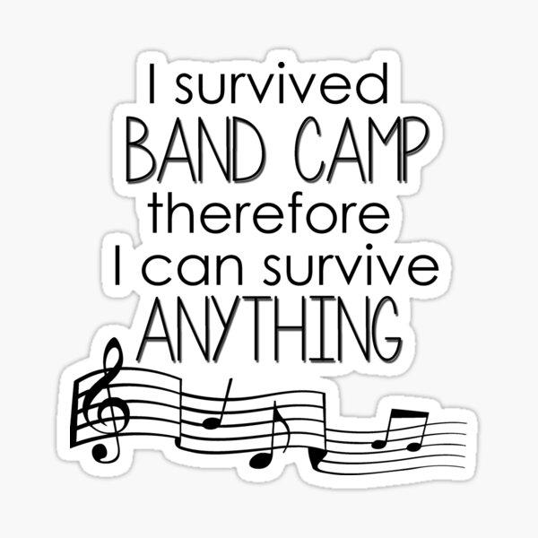 I Survived Band Camp Sticker