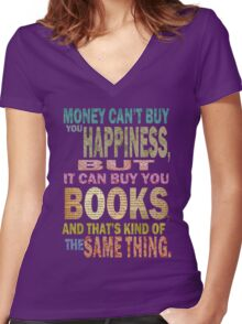 For The Love Of BOOKS! Women's Fitted V-Neck T-Shirt