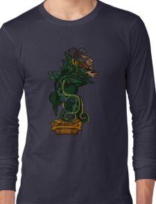 Mayan Serpent God Long Sleeve T-Shirt