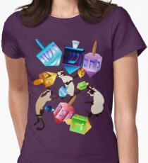 Delightful Dreidels Womens Fitted T-Shirt