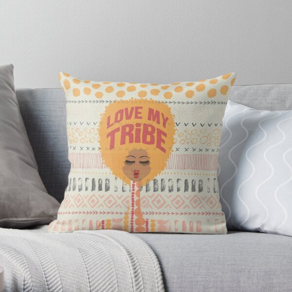 Love My Tribe Throw Pillow