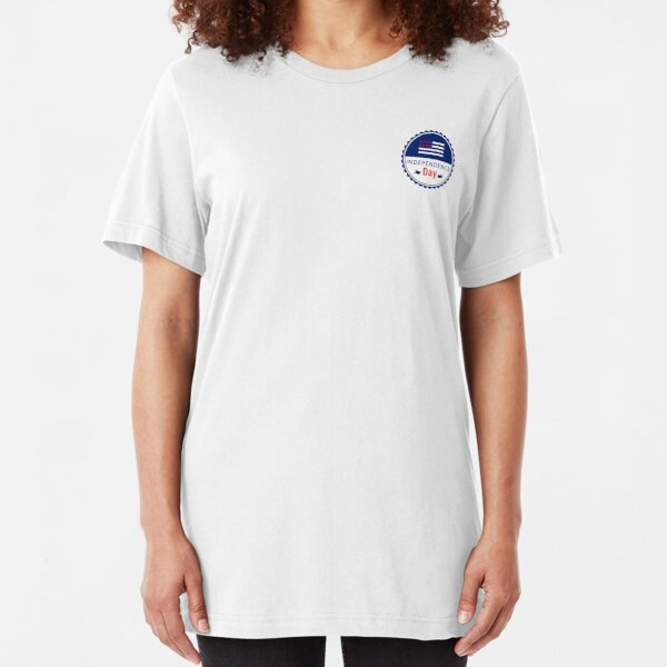 United States Independence Day, 4th of July | graphic design Slim Fit T-Shirt