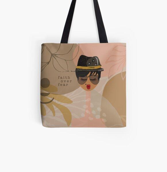 Faith Over Fear All Over Print Tote Bag