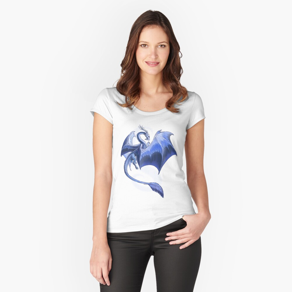 The Dragon of Winter Fitted Scoop T-Shirt
