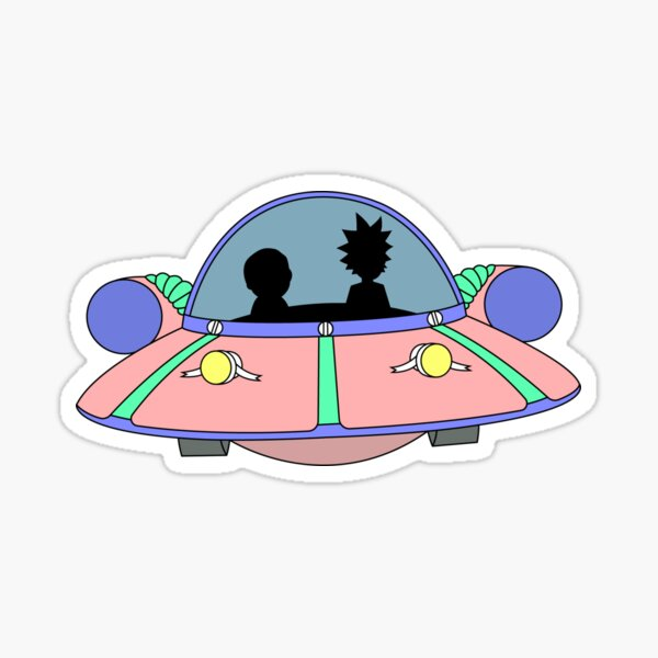 Rick and Morty spaceship Sticker