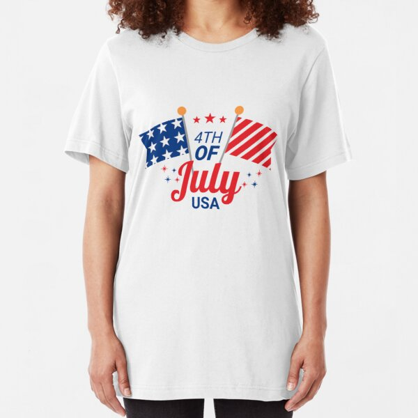 USA Independence Day, 4th of July | graphic design Slim Fit T-Shirt