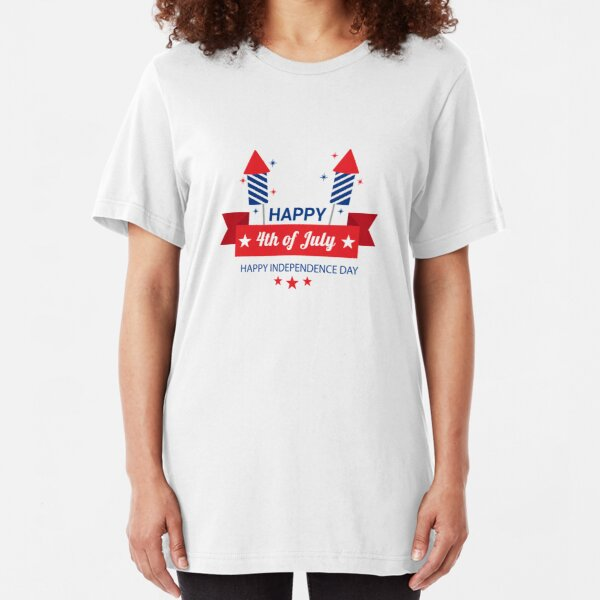 4th of july celebrations, happy july 4th, USA independence day 2020 Slim Fit T-Shirt