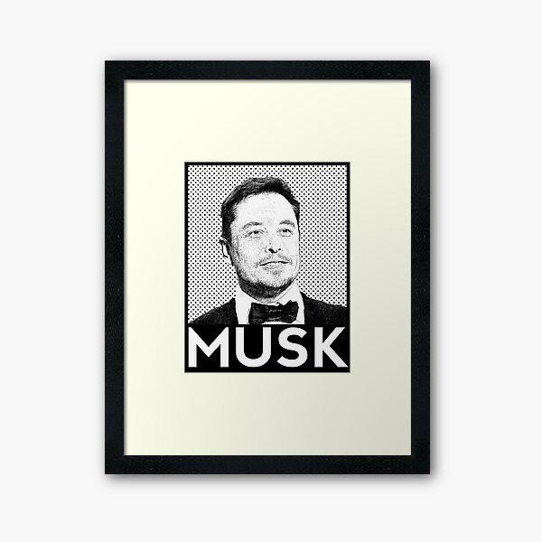 Elon Musk Portrait Framed Art Print