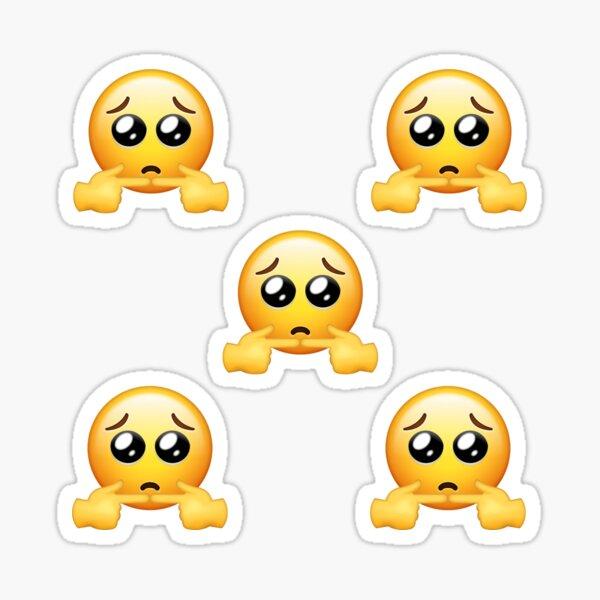 Shy Sad Emoji Pack Pegatina