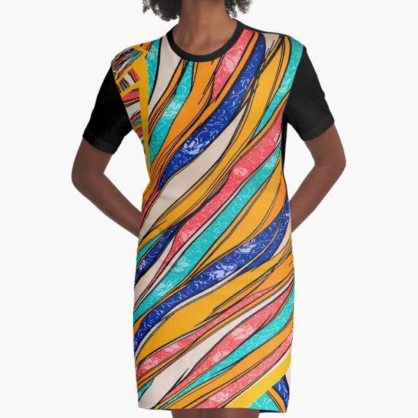 Spiraled Graphic T-Shirt Dress