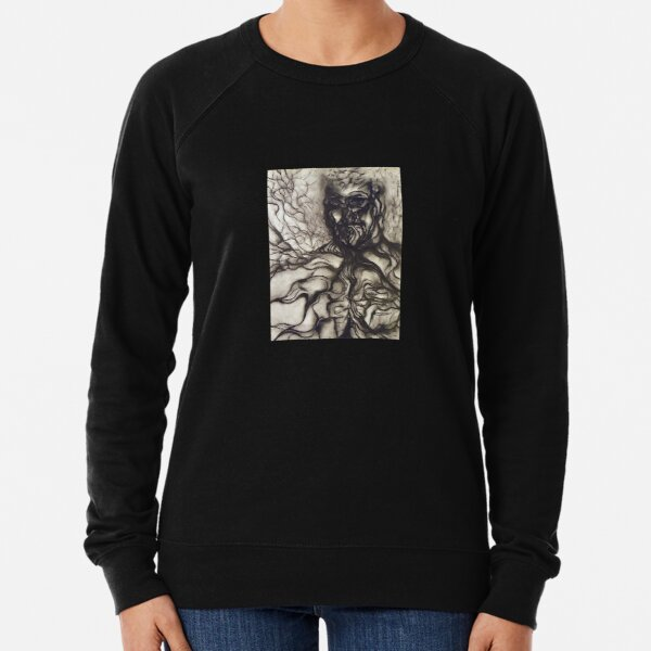Breath. Adapted from the artist's charcoal drawing. Lightweight Sweatshirt