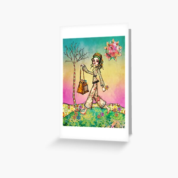 psychedelic Girl Greeting Card