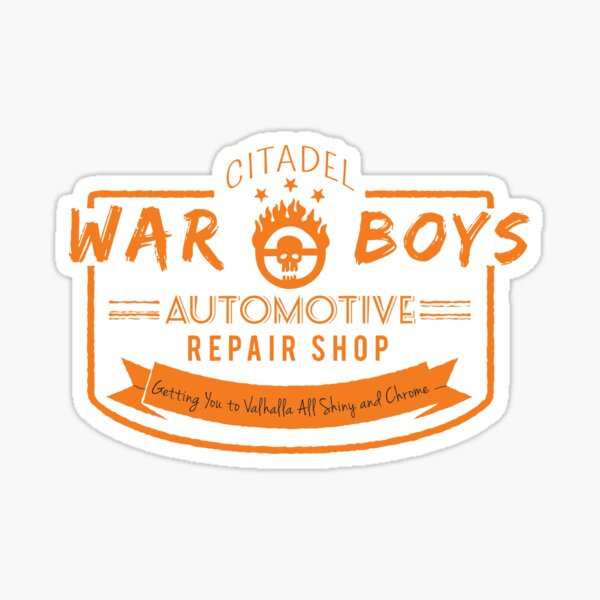 War Boys Auto Repair Pegatina