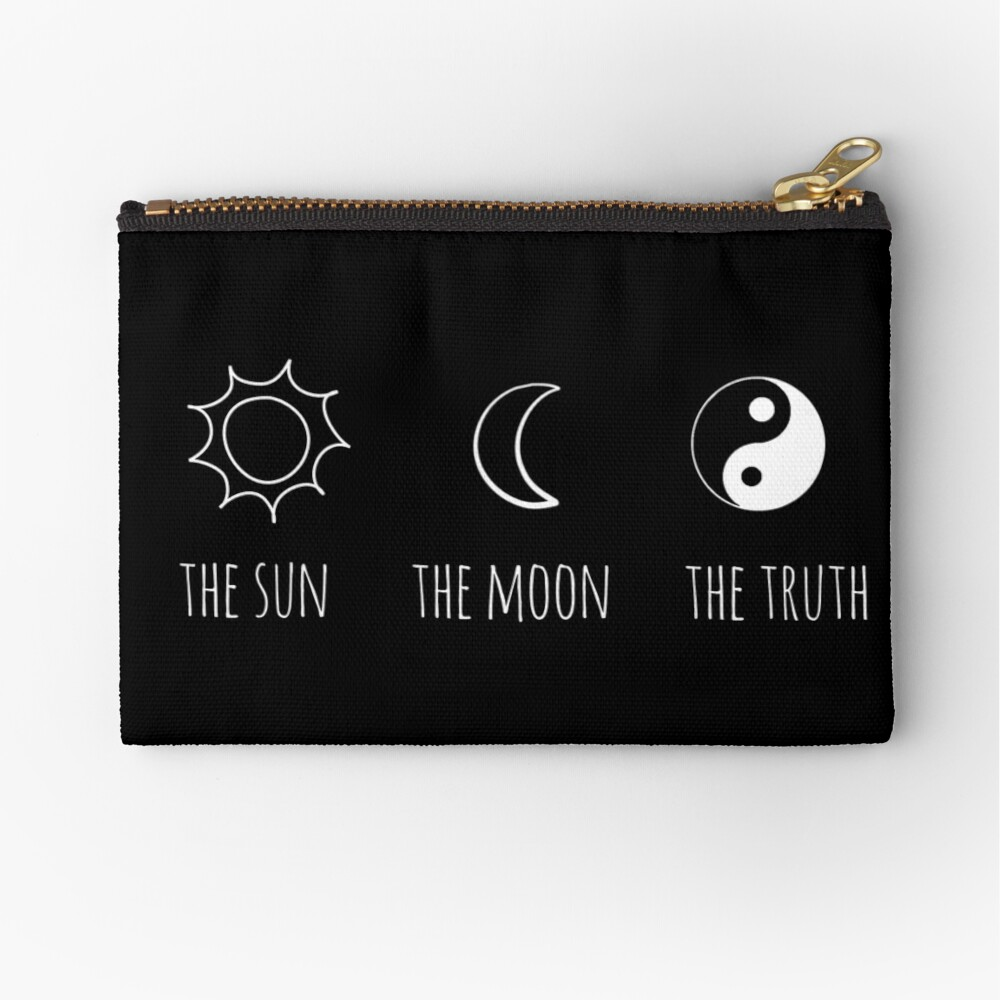 The Sun, The Moon, The Truth Zipper Pouch