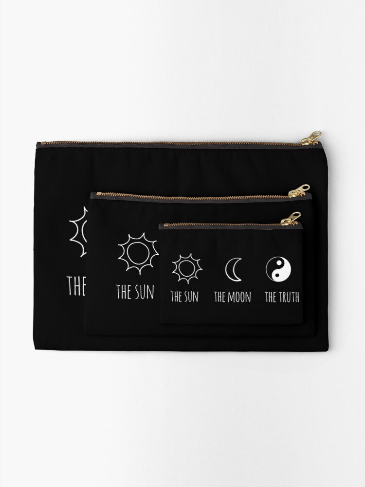 Alternate view of The Sun, The Moon, The Truth Zipper Pouch