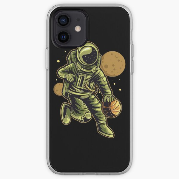Astronaut Dribbling Basketball iPhone Soft Case