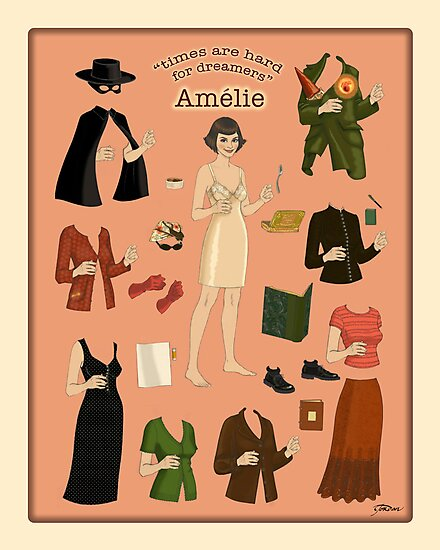 Amelie Poster Doll by nouvellegamine