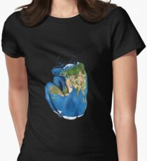 """""""Great Artists Steal"""" Pablo Picasso Inspired Blue Earth Nude Women's Fitted T-Shirt"""