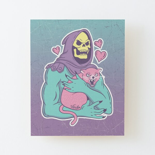 Skeletor's Cat Wood Mounted Print