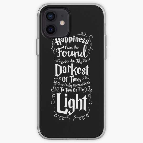 Cute Inspirational Quarantine Quote - Happiness Can Be Found - Magical Saying iPhone Soft Case