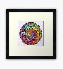 Mandala 10 drawing rainbow 1 Prints, Cards & Posters Framed Print