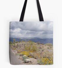 Beautiful Late Winter Desert Storm Tote Bag