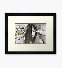 The Brain Washing Framed Print
